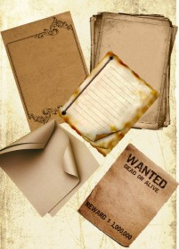 Featured nostalgic paper psd layered material