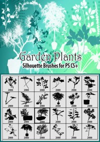 Garden Plants Series Brushes