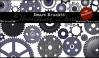 Gear brushes psd material