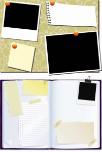 Guest Article notes and bulletin board psd material