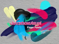 Hand painted color ink brush psd material