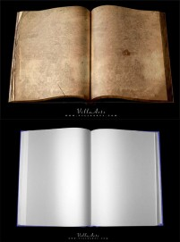 Old and new books psd layered material