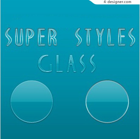 PS transparent glass style material layer styles
