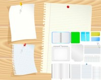 Paper notepad psd material