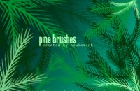 Ps brush beautiful leafy material effect