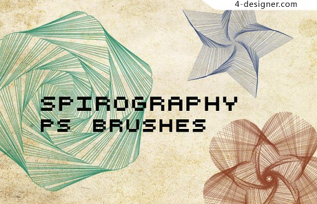 Rotating brushes psd material overlapping geometric patterns