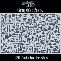 Silhouette graphics package brush material