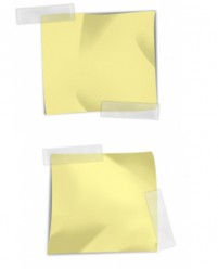 Small piece of paper notes psd layered material