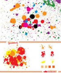 Splash of color dots psd material