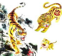 Tiger Tiger graphic PSD material