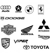 Trademarks cars psd layered material