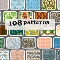 108 kinds of graphic style pattern psd material