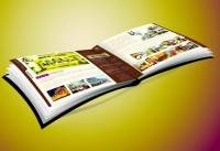 A4 size booklet skewed angle renderings psd material