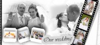 Black and white wedding photography template