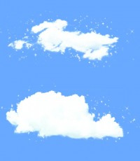 Both clouds PNG material