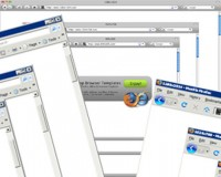 Browser template psd material