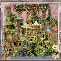 Fairy tale castle png material
