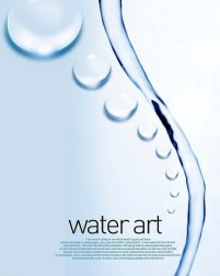 Fresh water drops background beautiful dynamic psd material 03