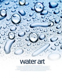 Fresh water drops background beautiful dynamic psd material 05