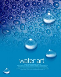 Fresh water drops background beautiful dynamic psd material 06