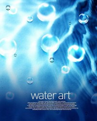 Fresh water drops background beautiful dynamic psd material 07