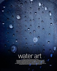 Fresh water drops background beautiful dynamic psd material 08