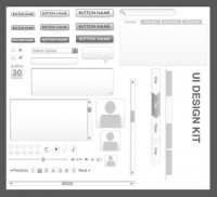 UI interface wireframe template psd material