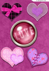 Valentine s Day themed material png