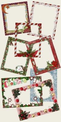 Gorgeous Christmas themed photo frame transparent layer material
