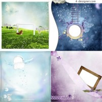 Indifferent rustic background border png material 01