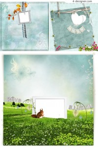 Indifferent rustic background border png material 02