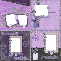 Romantic Purple album page template png material