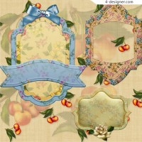 Simple classical pastoral decorative frame png material 01