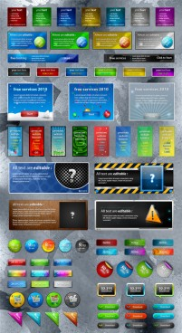 Web design and practical elements psd layered material