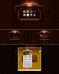 A personalized web interface templates psd layered material