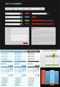 A variety of practical web design PSD layered material
