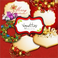 Beautifully decorated Christmas PNG material