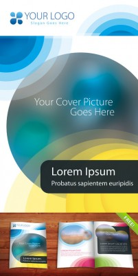 Corporate brochure template psd layered material