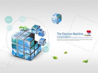 Environmental Cube Design PSD material