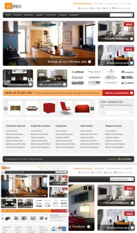 Furniture web interface design templates psd layered material