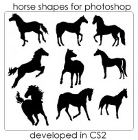 Horse silhouette PS brushes