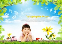 Innocent children live photo PSD material