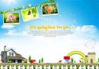 Lifestyle photo background count PSD material