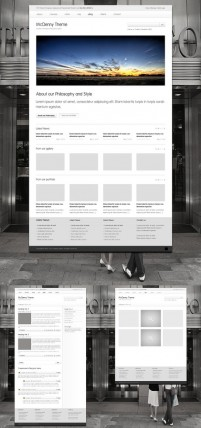 Picture browsing the web interface design templates psd layered material