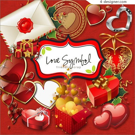 Romantic Valentine s Day decorative elements png material two