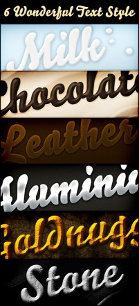 Several effects font PSD material