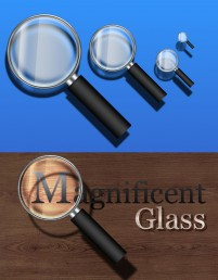 Simple magnifying glass psd layered material