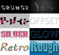 Style File text effects PS material