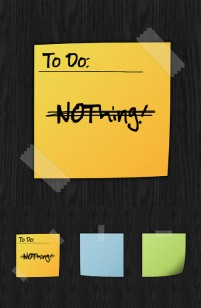 The wall paper notes psd layered material