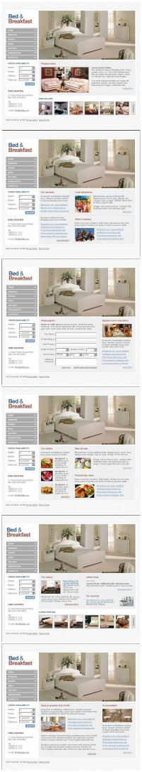 Very simple white home class web design